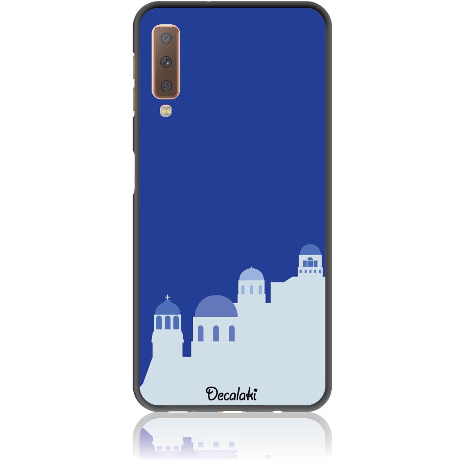 Santorini Pure Blue Phone Case Design 50294  -  Samsung A7 2018 (a750)  -  Soft Tpu Case