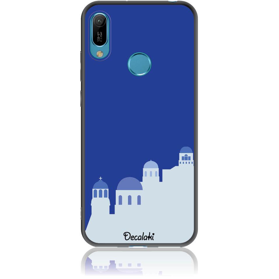 Santorini Pure Blue Phone Case Design 50294  -  Huawei Y6 2019  -  Soft Tpu Case