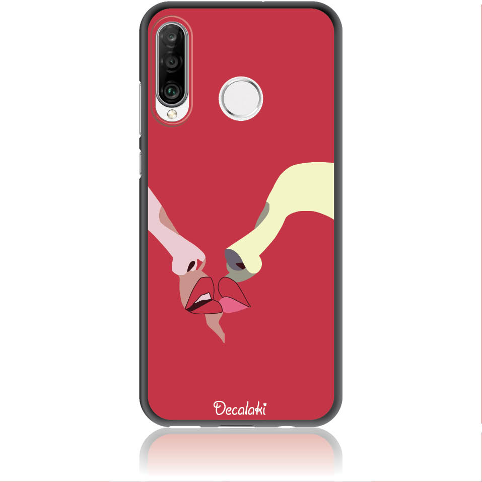 Red Lovers Phone Case Design 50297  -  Huawei P30 Lite  -  Soft Tpu Case