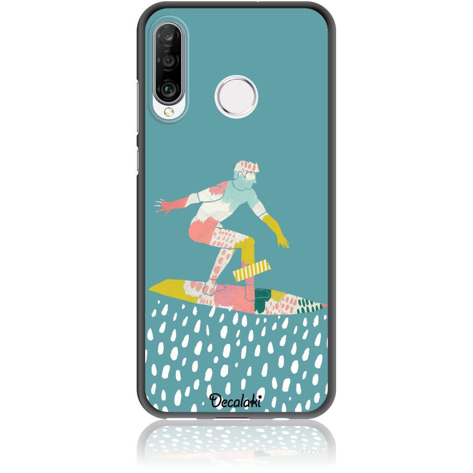 Surf Boy Phone Case Design 50305  -  Huawei P30 Lite  -  Soft Tpu Case