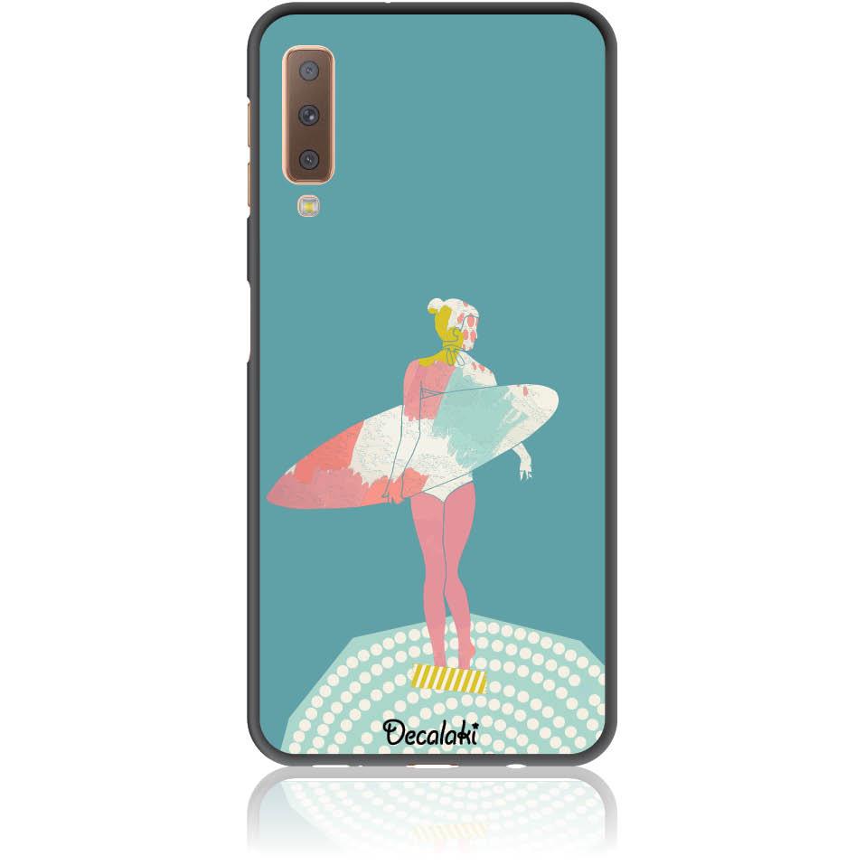 Surf Girl Phone Case Design 50306  -  Samsung A7 2018 (a750)  -  Soft Tpu Case
