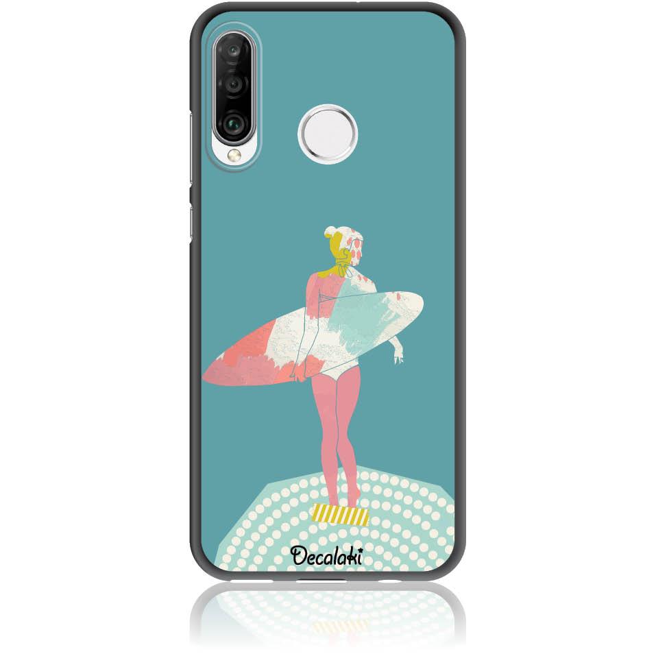 Surf Girl Phone Case Design 50306  -  Huawei P30 Lite  -  Soft Tpu Case