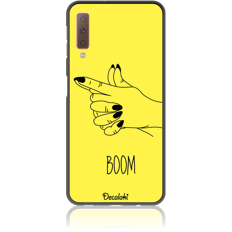 Yellow Boom Girl Gung Phone Case Design 50319  -  Samsung A7 2018 (a750)  -  Soft Tpu Case