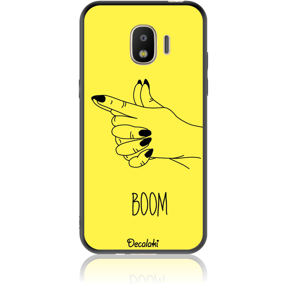 Yellow Boom Girl Gung Phone Case Design 50319  -  Samsung J2 Pro (2018)  -  Soft Tpu Case