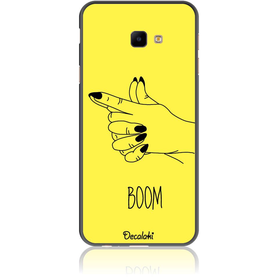 Yellow Boom Girl Gung Phone Case Design 50319  -  Samsung J4 Core  -  Soft Tpu Case