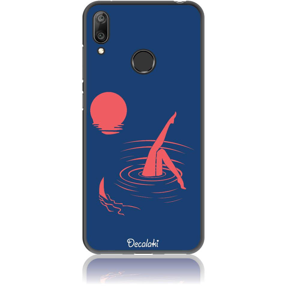 Take Risk Stay Humble Blue Phone Case Design 50331  -  Huawei Y7 2019  -  Soft Tpu Case