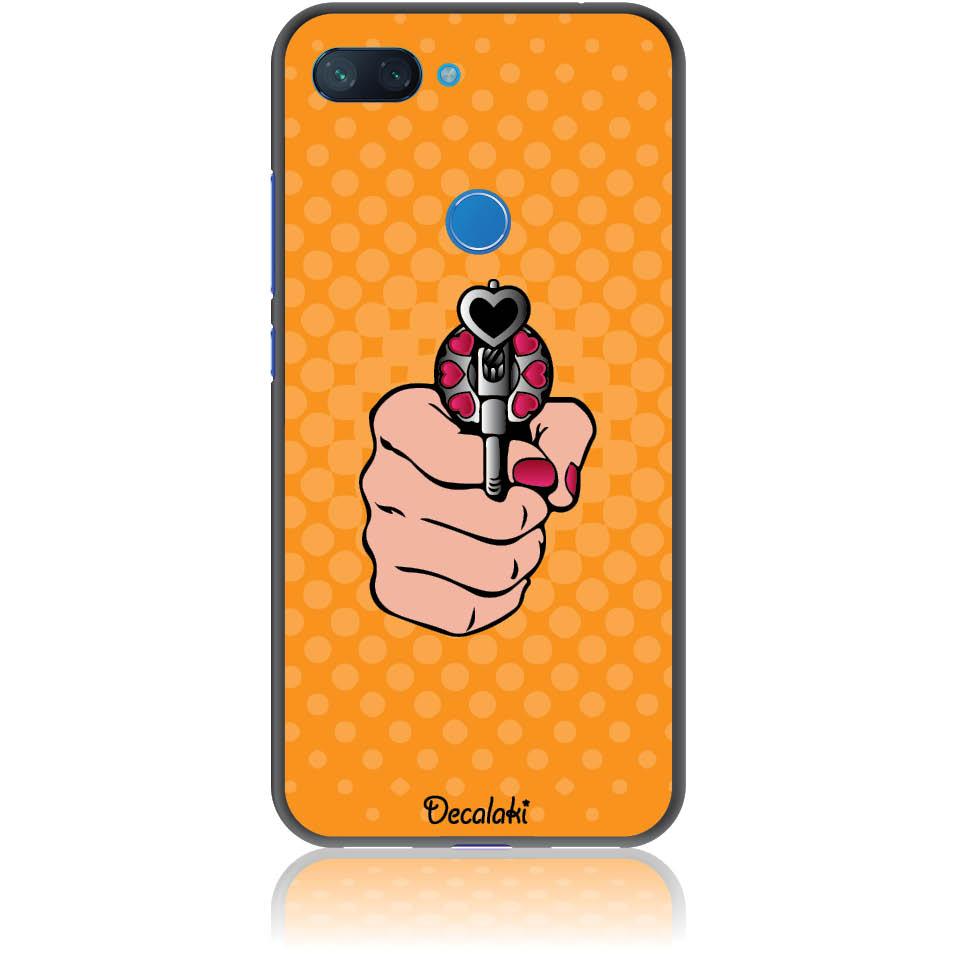 Love Gun Pop Art Phone Case Design 50333  -  Xiaomi Mi 8 Lite  -  Soft Tpu Case
