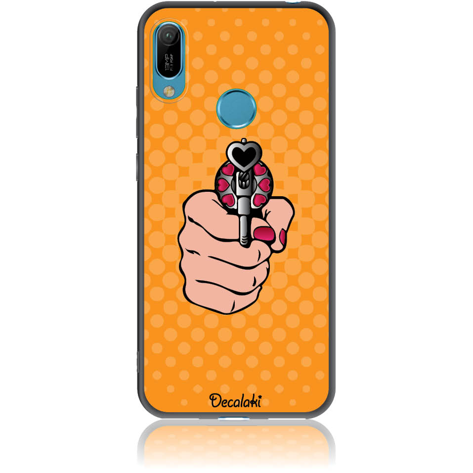 Love Gun Pop Art Phone Case Design 50333  -  Huawei Y6 2019  -  Soft Tpu Case