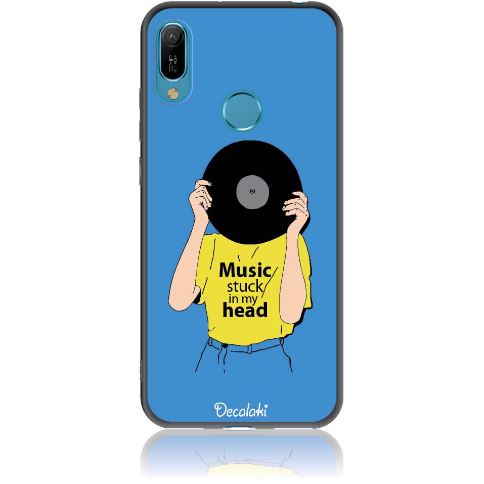 Music Stuck In My Head Phone Case Design 50339  -  Huawei Y6 Prime 2019  -  Soft Tpu Case