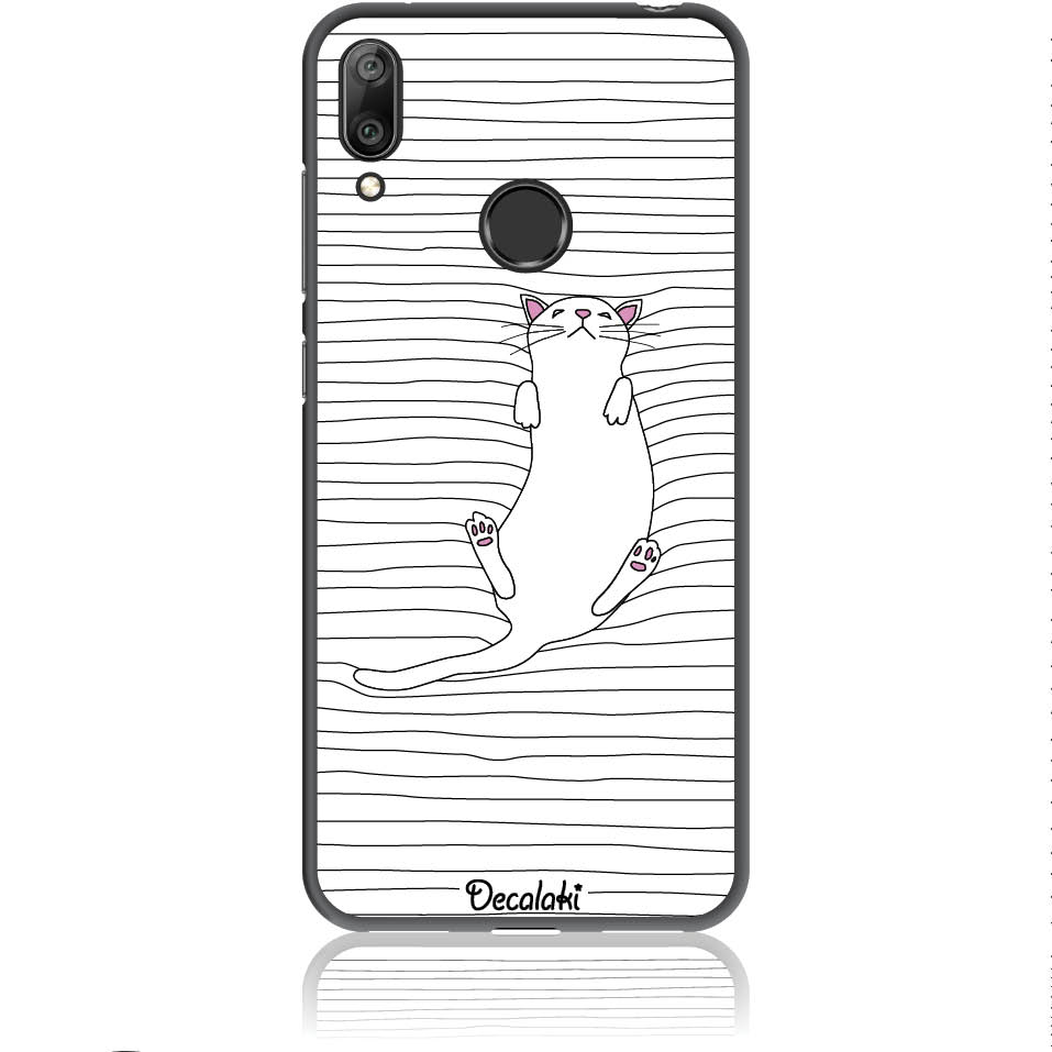 Tender Kitty Miaou Phone Case Design 50363  -  Huawei Y7 Prime 2019  -  Soft Tpu Case