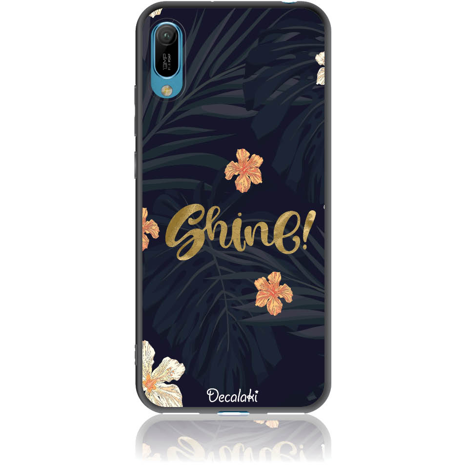 Shine On Dark Floral Phone Case Design 50393  -  Huawei Y6 Pro 2019  -  Soft Tpu Case