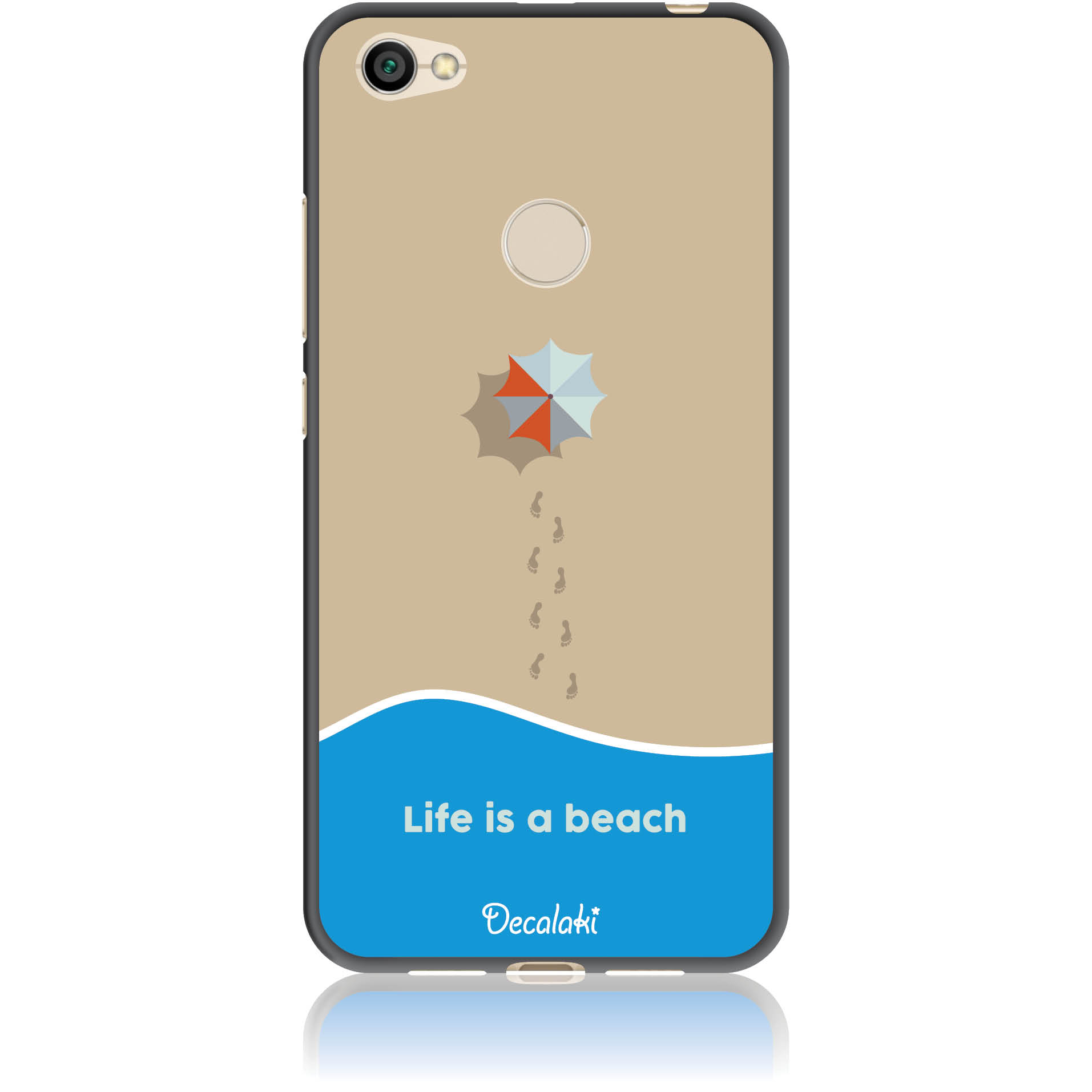 Life Is A Beach Phone Case Design 50430  -  Xiaomi Redmi Note 5a Prime  -  Soft Tpu Case