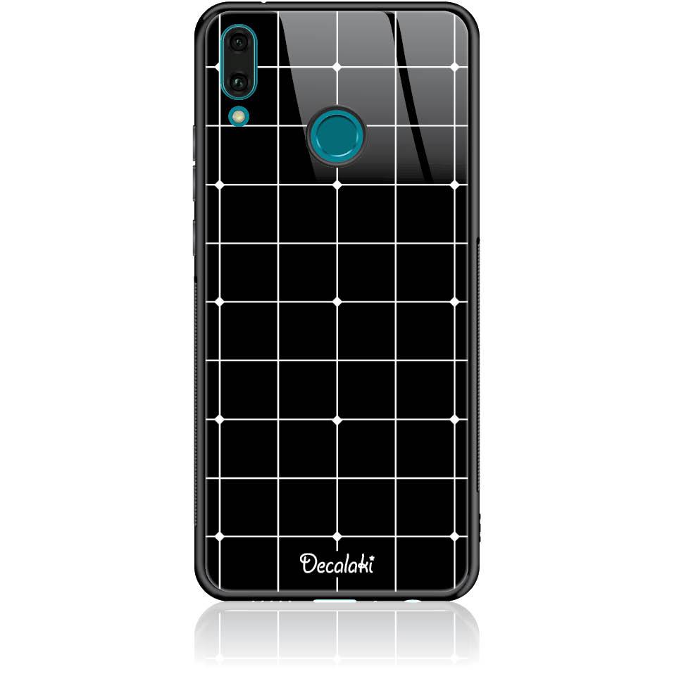 Pattern Black Lines Case Design 50035  -  Huawei Y9 2019  -  Tempered Glass Case