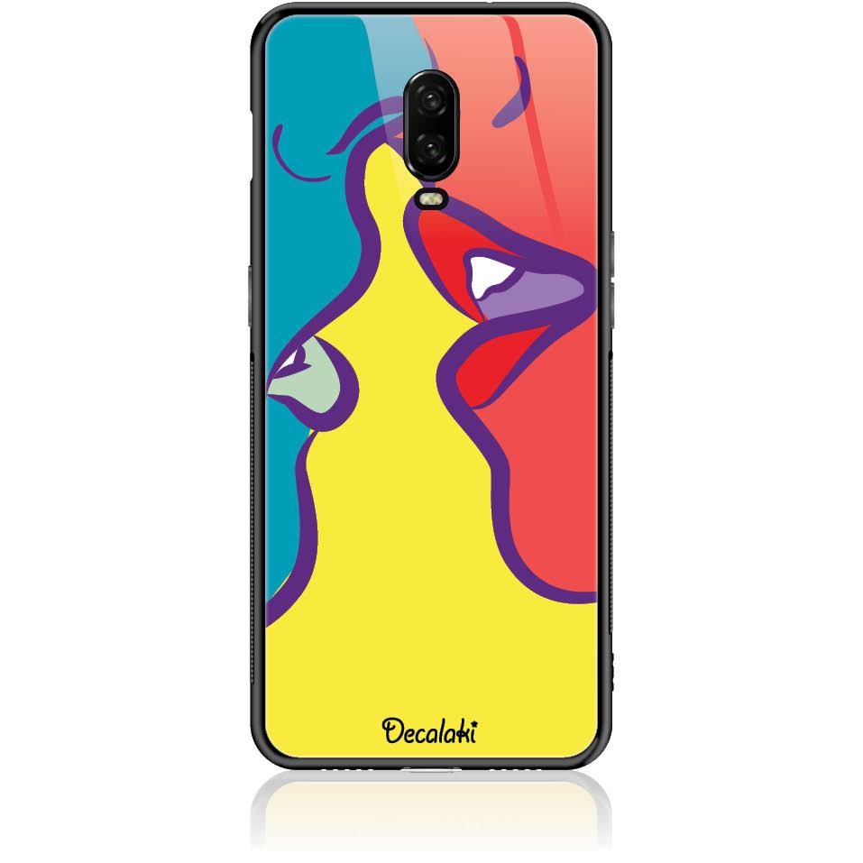Pop Art Kiss Phone Case Design 50074  -  One Plus 6t  -  Tempered Glass Case