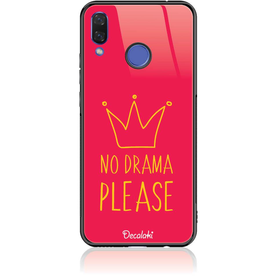 No Drama Please Red Phone Case Design 50092  -  Huawei Nova 3  -  Tempered Glass Case