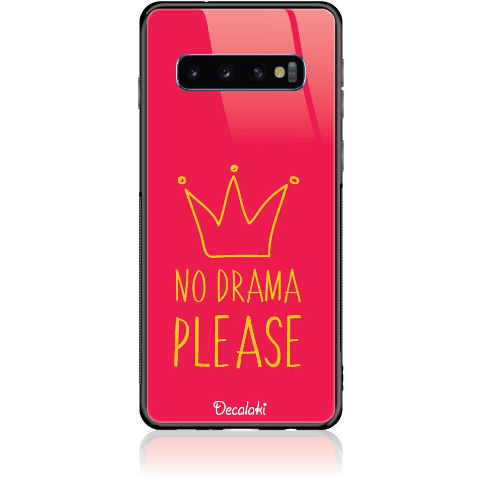 No Drama Please Red Phone Case Design 50092  -  Samsung S10  -  Tempered Glass Case