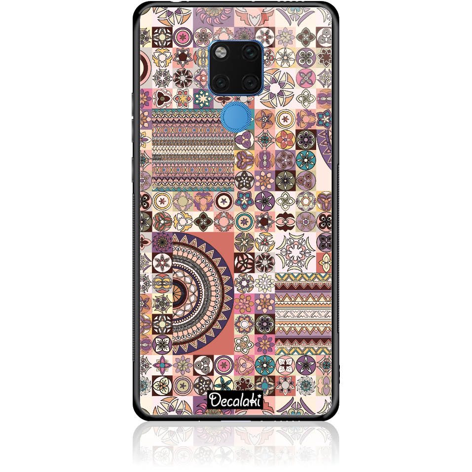 Vintage Pattern Phone Case Design 50093  -  Huawei Mate 20 X  -  Tempered Glass Case