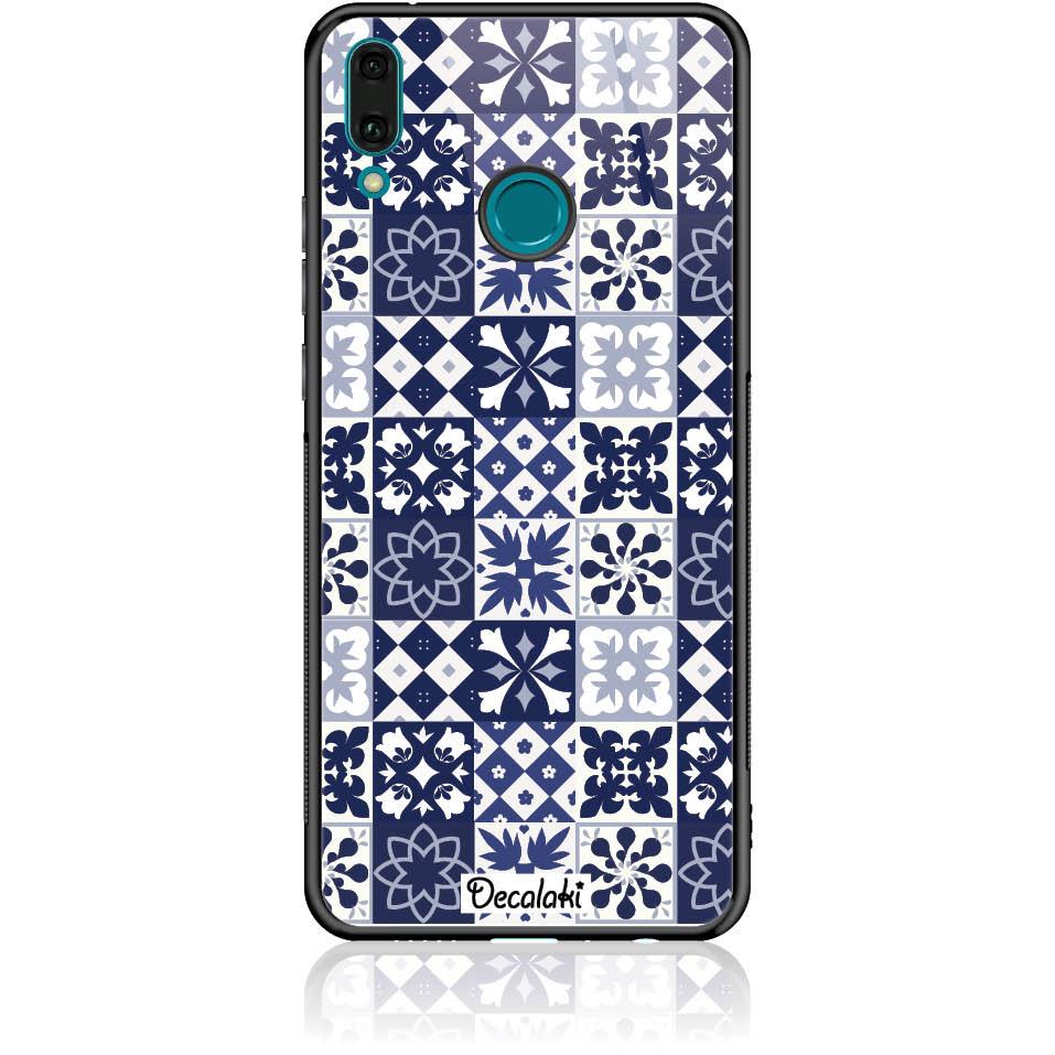 Blue Vintage Phone Case Design 50094  -  Huawei Enjoy 9 Plus  -  Tempered Glass Case