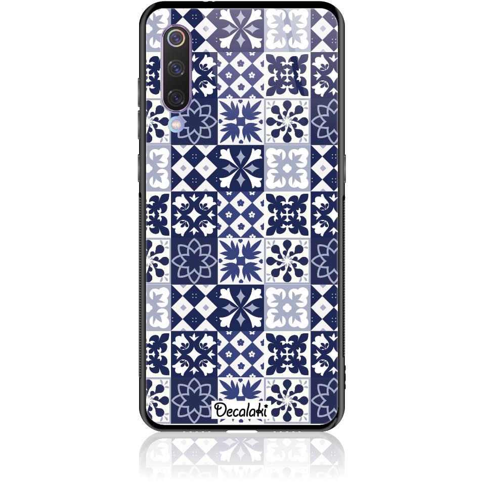 Blue Vintage Phone Case Design 50094  -  Xiaomi Mi 9  -  Tempered Glass Case