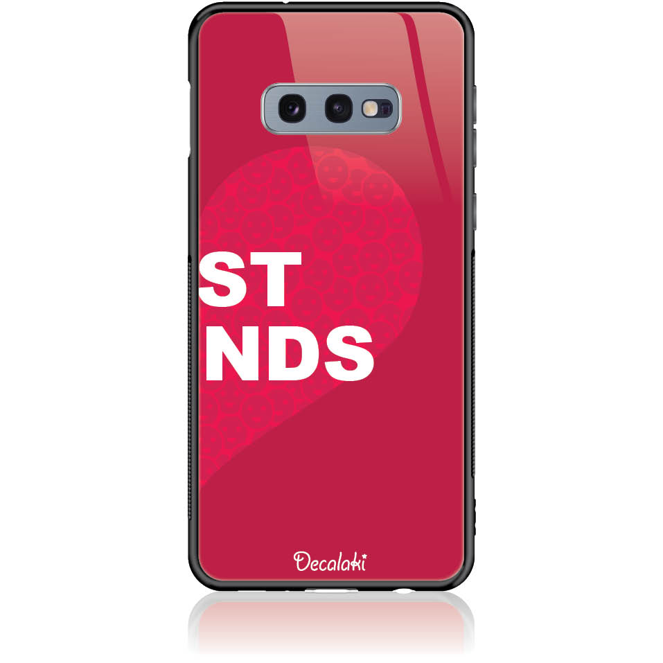 Case Design 50099  -  Samsung S10e  -  Tempered Glass Case