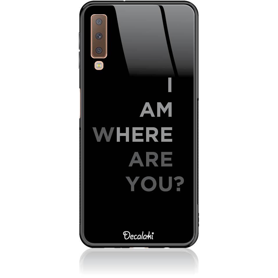 Where Are You? Black Art Phone Case Design 50107  -  Samsung A7 2018 (a750)  -  Tempered Glass Case
