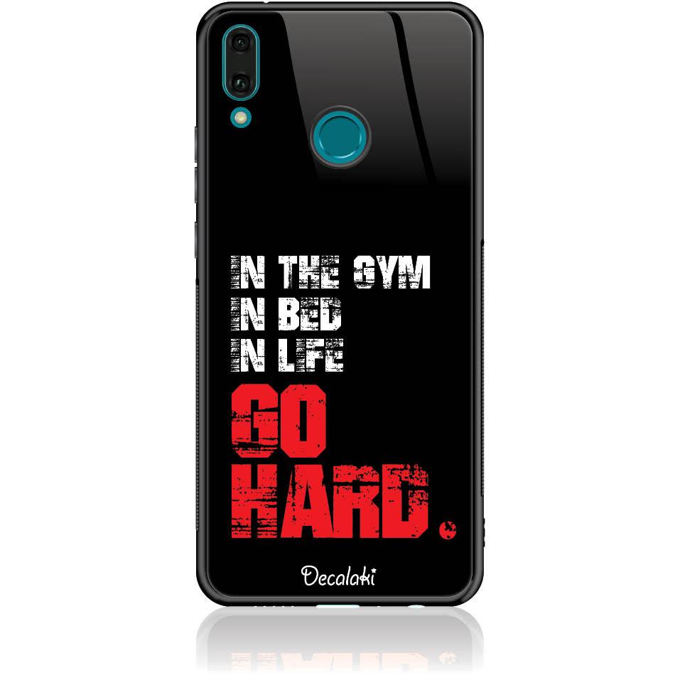 Go Hard Gym Addicted Phone Case Design 50133  -  Huawei Enjoy 9 Plus  -  Tempered Glass Case
