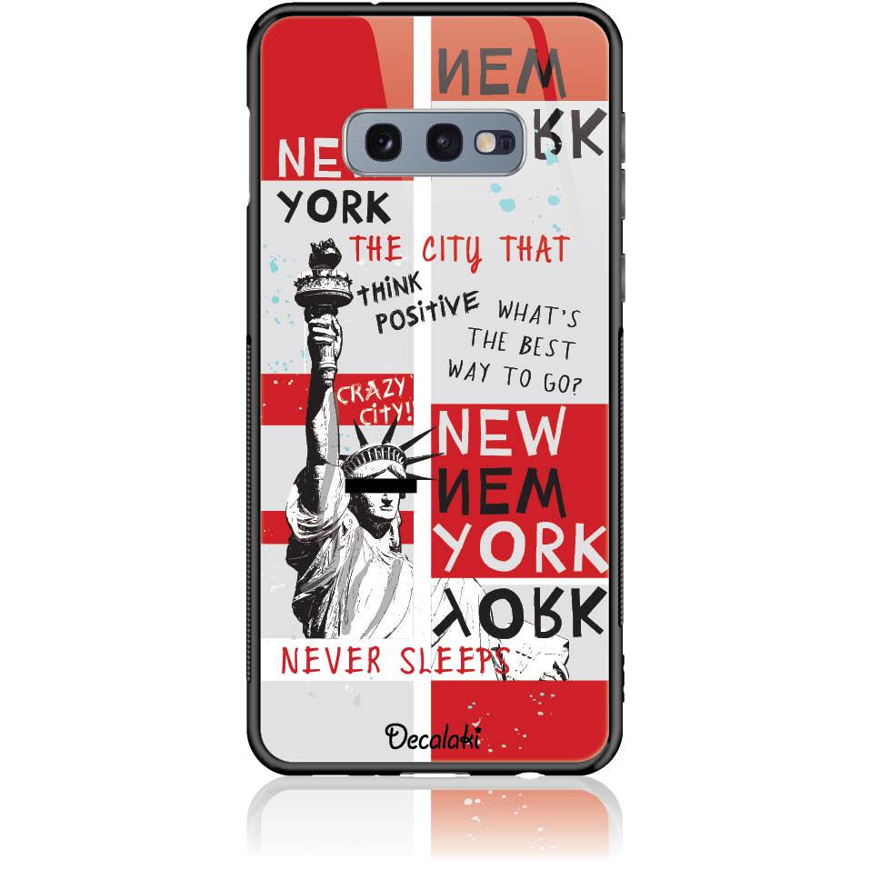 Crazy City New York Phone Case Design 50159  -  Samsung S10e  -  Tempered Glass Case