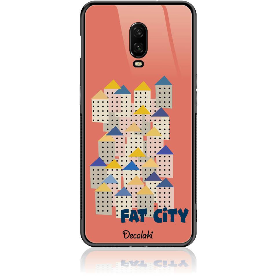 Fat City Pastel Phone Case Design 50171  -  One Plus 6t  -  Tempered Glass Case