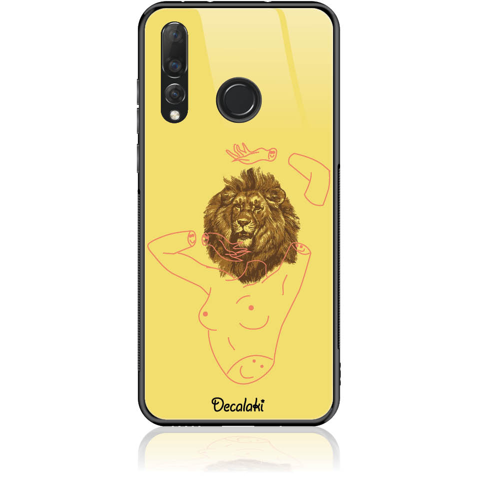 Wild And Free Yellow Lion Head Body Phone Case Design 50190 Tempered Glass Case