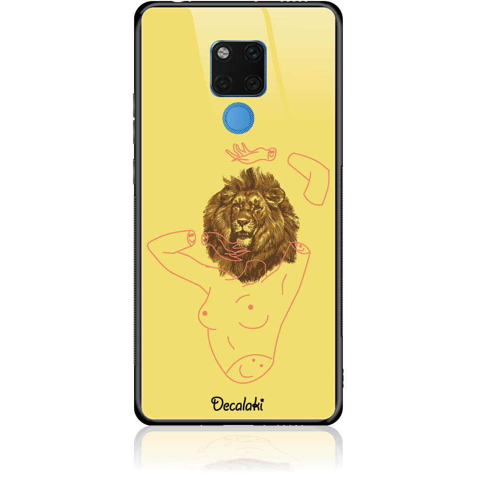 Wild And Free Yellow Lion Head Body Phone Case Design 50190tempered Glass Case