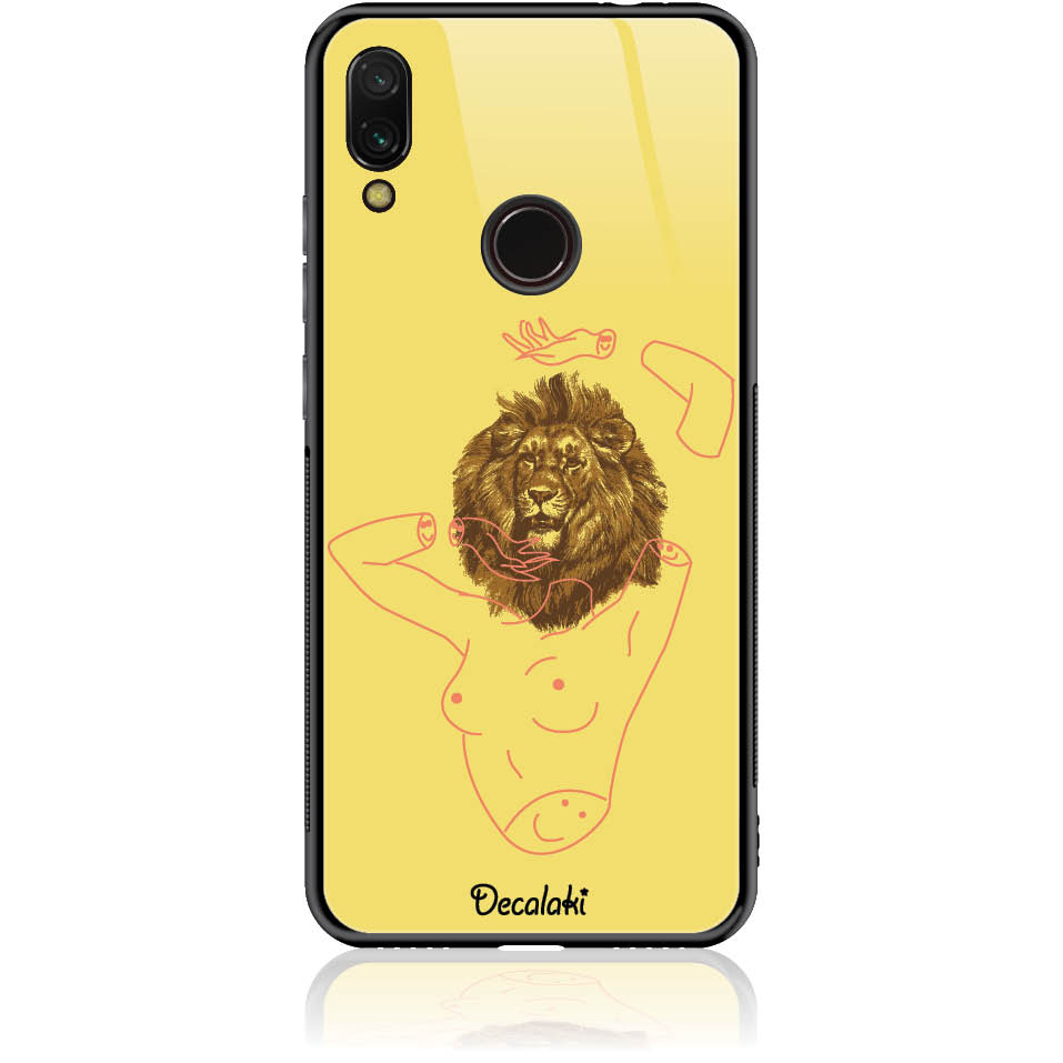 Wild And Free Yellow Lion Head Body Phone Case Design 50190-redmi Note 7 Pro-tempered Glass Case