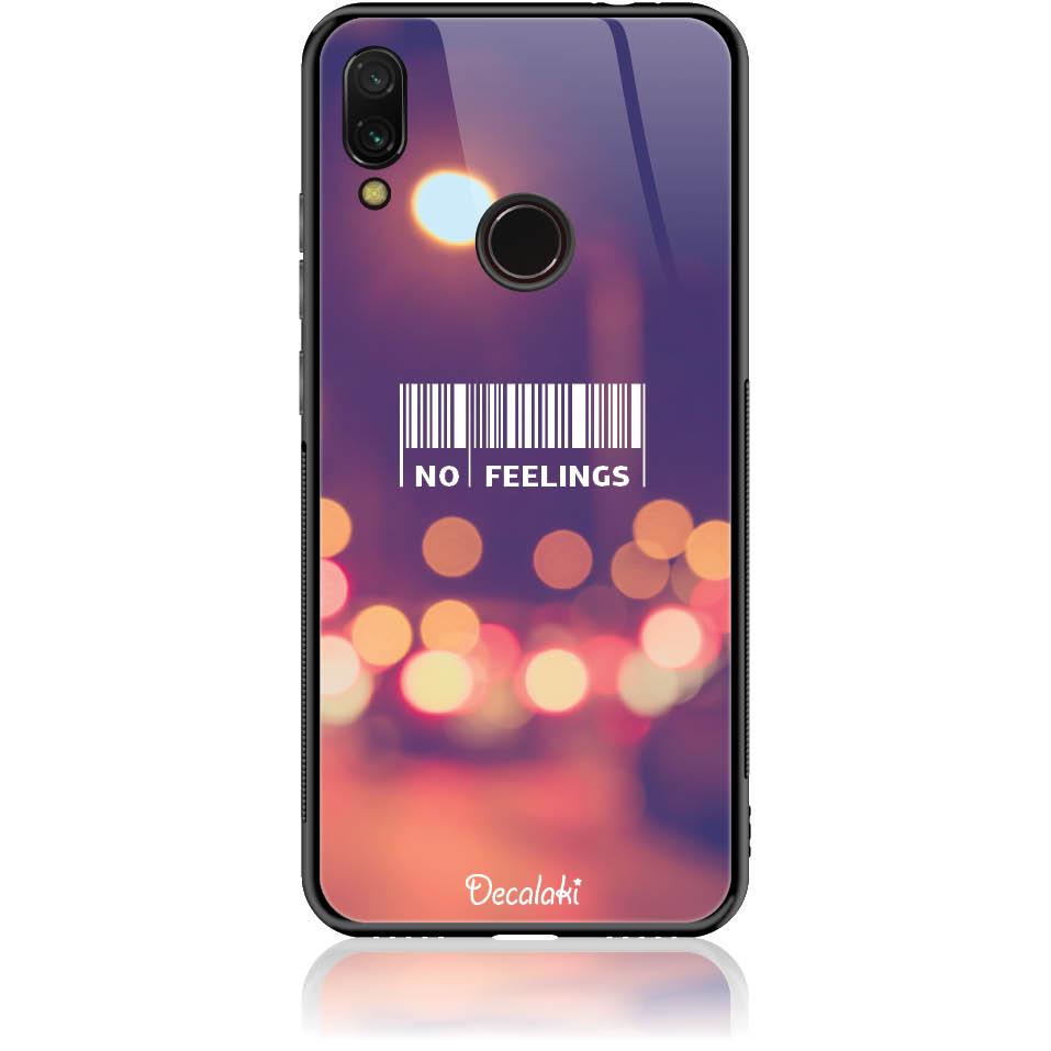 No Feelings Barcode Phone Case Design 50223  -  Xiaomi Redmi Note 7 Pro  -  Tempered Glass Case