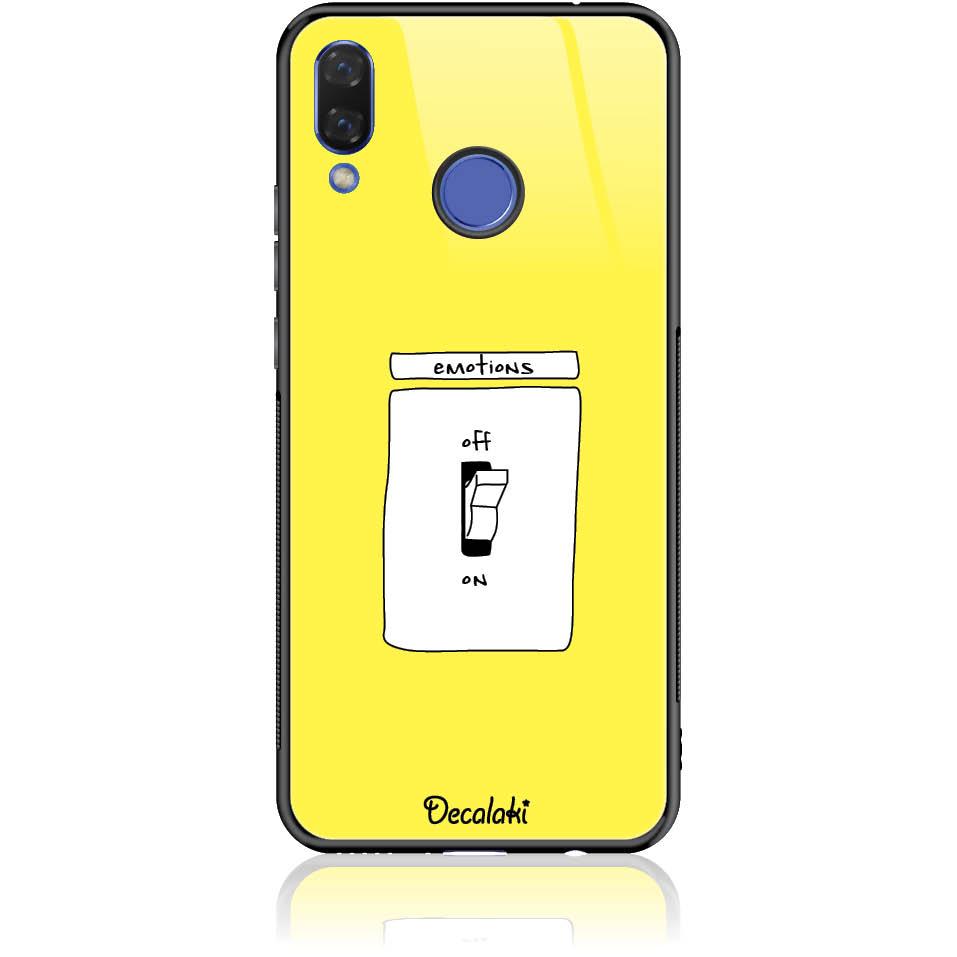 Emotions Off Phone Case Design 50228  -  Huawei Nova 3  -  Tempered Glass Case