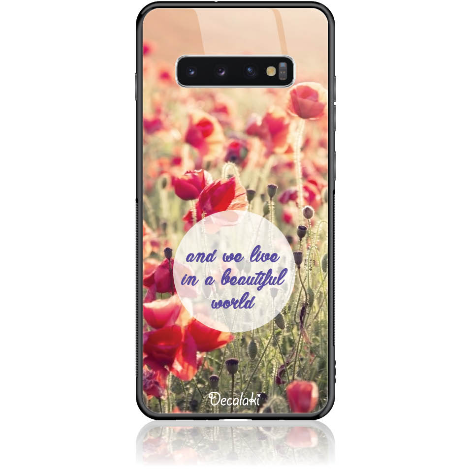 Case Design 50231  -  Samsung S10 Plus  -  Tempered Glass Case