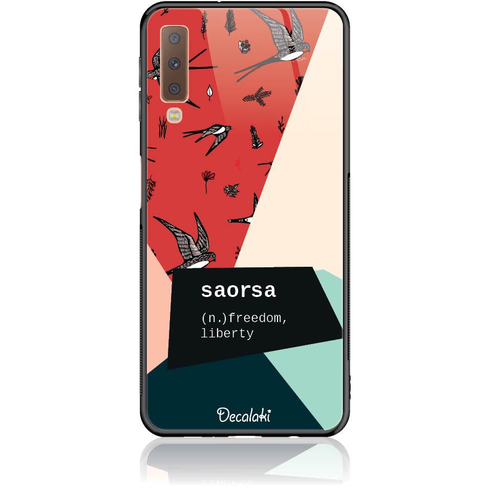 Case Design 50255  -  Samsung A7 2018 (a750)  -  Tempered Glass Case