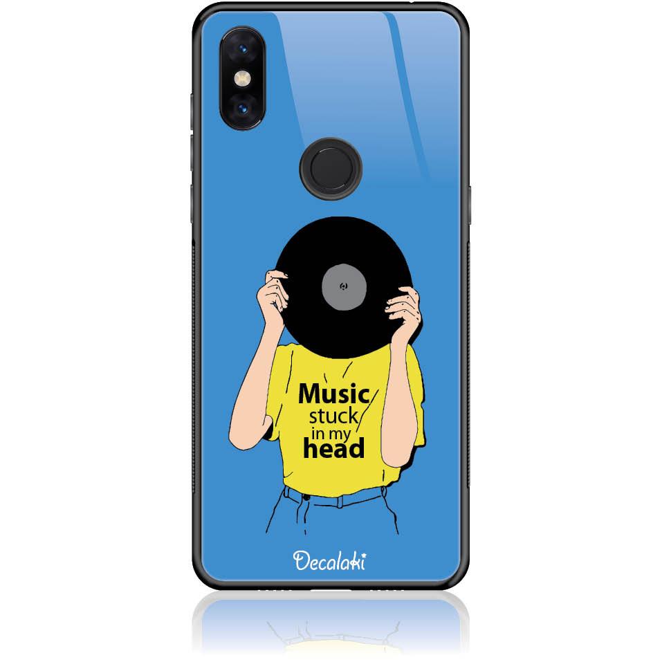 Music Stuck In My Head Phone Case Design 50339  -  Xiaomi Mi Mix 3  -  Tempered Glass Case
