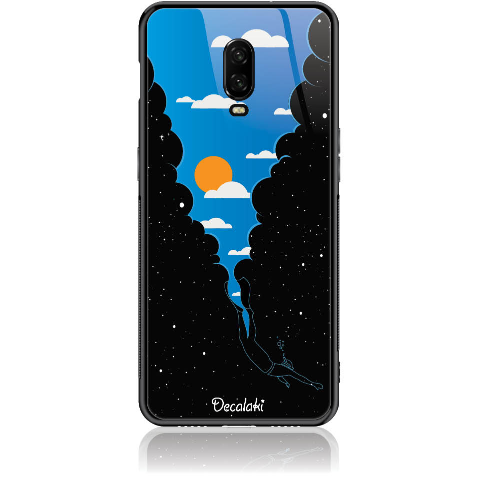 Case Design 50355  -  One Plus 6t  -  Tempered Glass Case