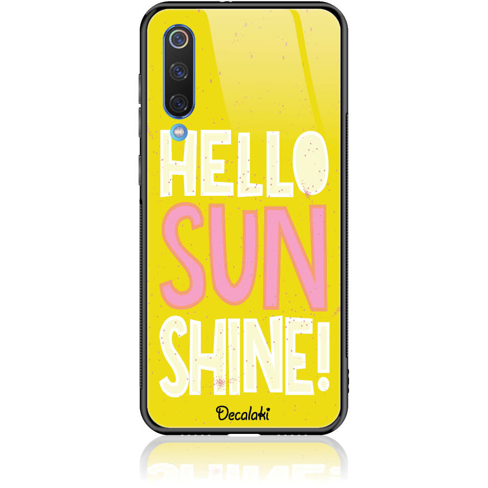 Hello Sunshine Yellow Art Phone Case Design 50377  -  Xiaomi Mi 8 Pro  -  Tempered Glass Case