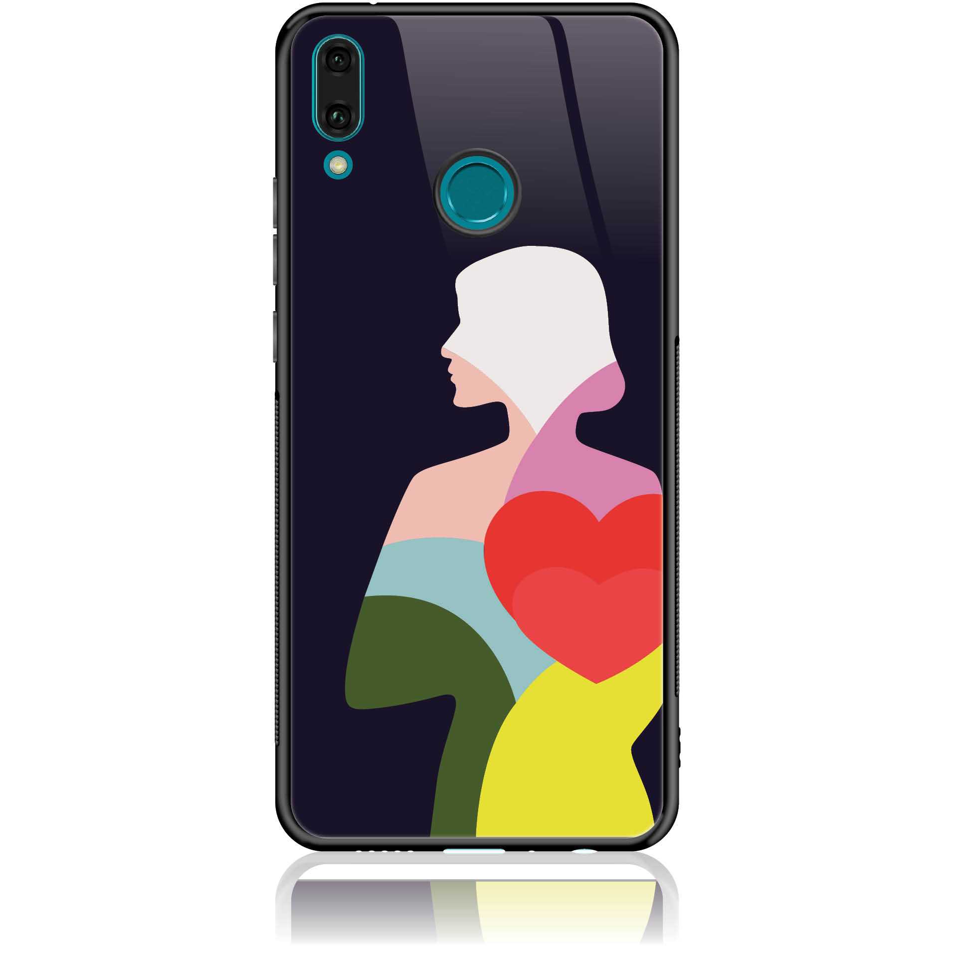 Case Design 50401  -  Huawei Enjoy 9 Plus  -  Tempered Glass Case