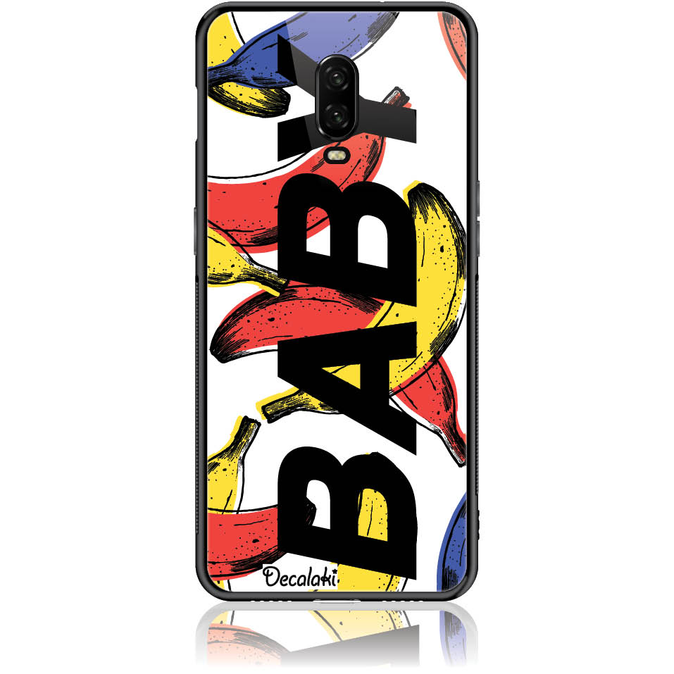 90s Banana Baby Phone Case Design 50416  -  One Plus 6t  -  Tempered Glass Case