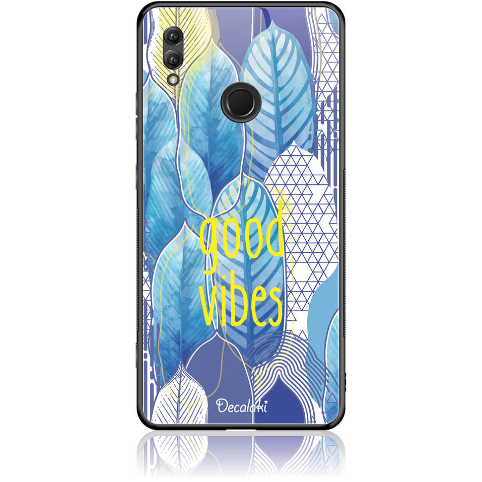 Blue Yoga Phone Case Design 50418  -  Honor Note 10  -  Tempered Glass Case