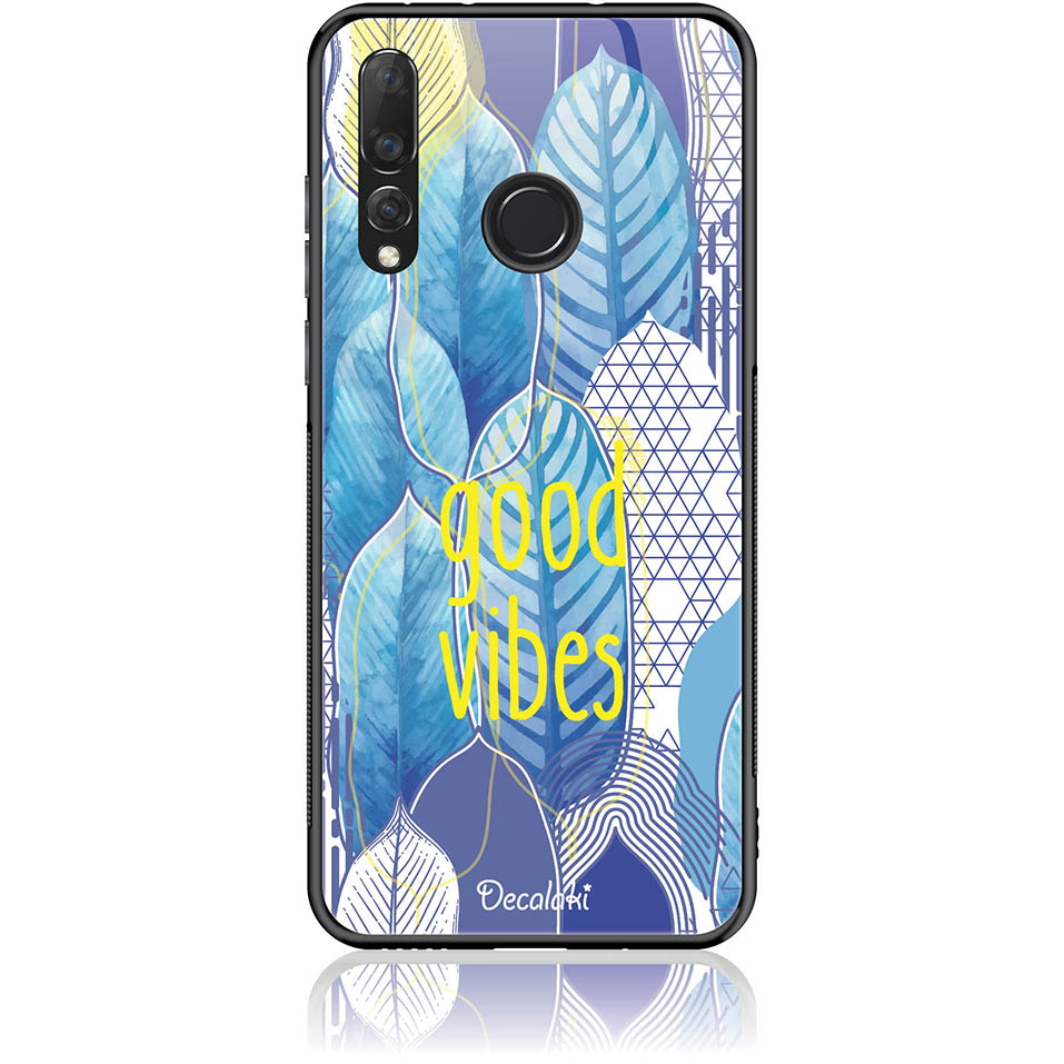 Blue Yoga Phone Case Design 50418  -  Huawei Nova 4  -  Tempered Glass Case