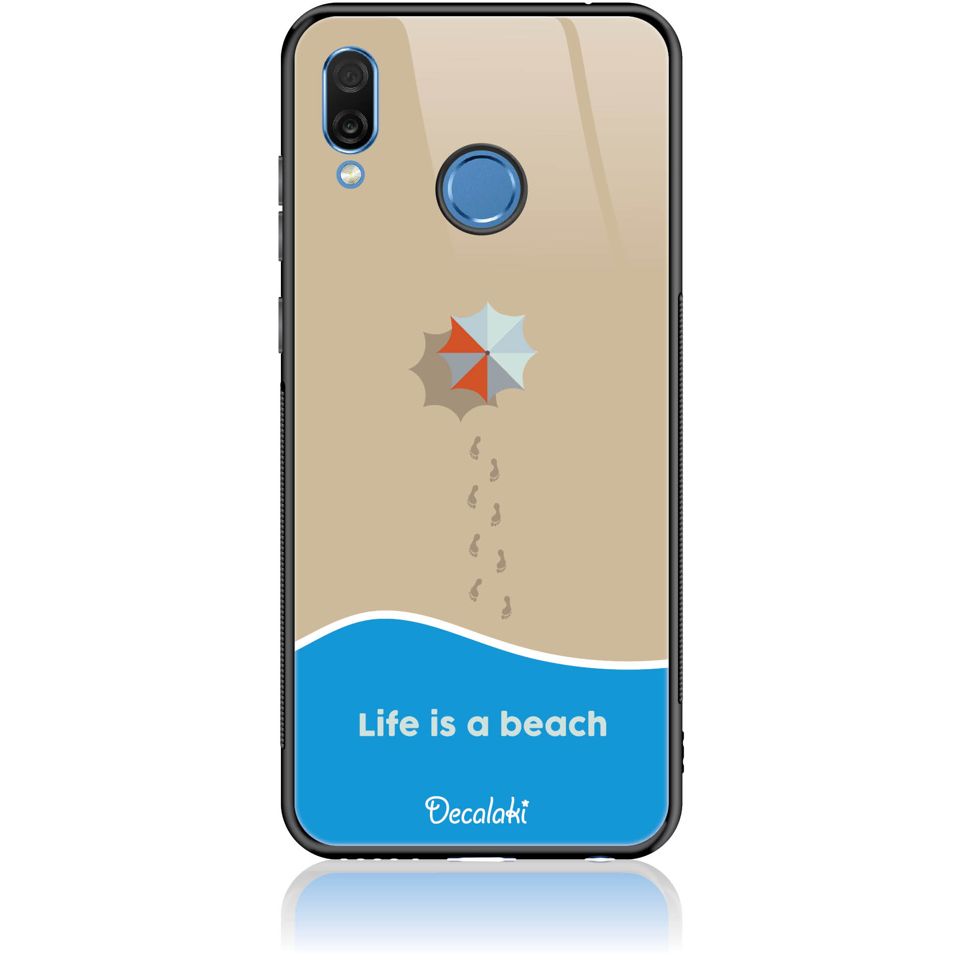 Life Is A Beach Phone Case Design 50430  -  Honor Play  -  Tempered Glass Case