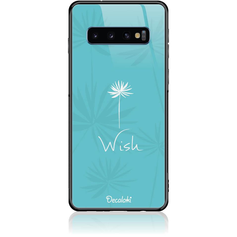Wish Phone Case Design 50434  -  Samsung S10  -  Tempered Glass Case