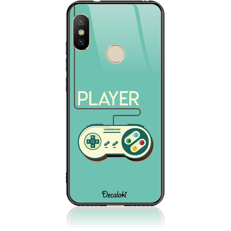 Player Phone Case Design 50442  -  Xiaomi Redmi 6 Pro  -  Tempered Glass Case