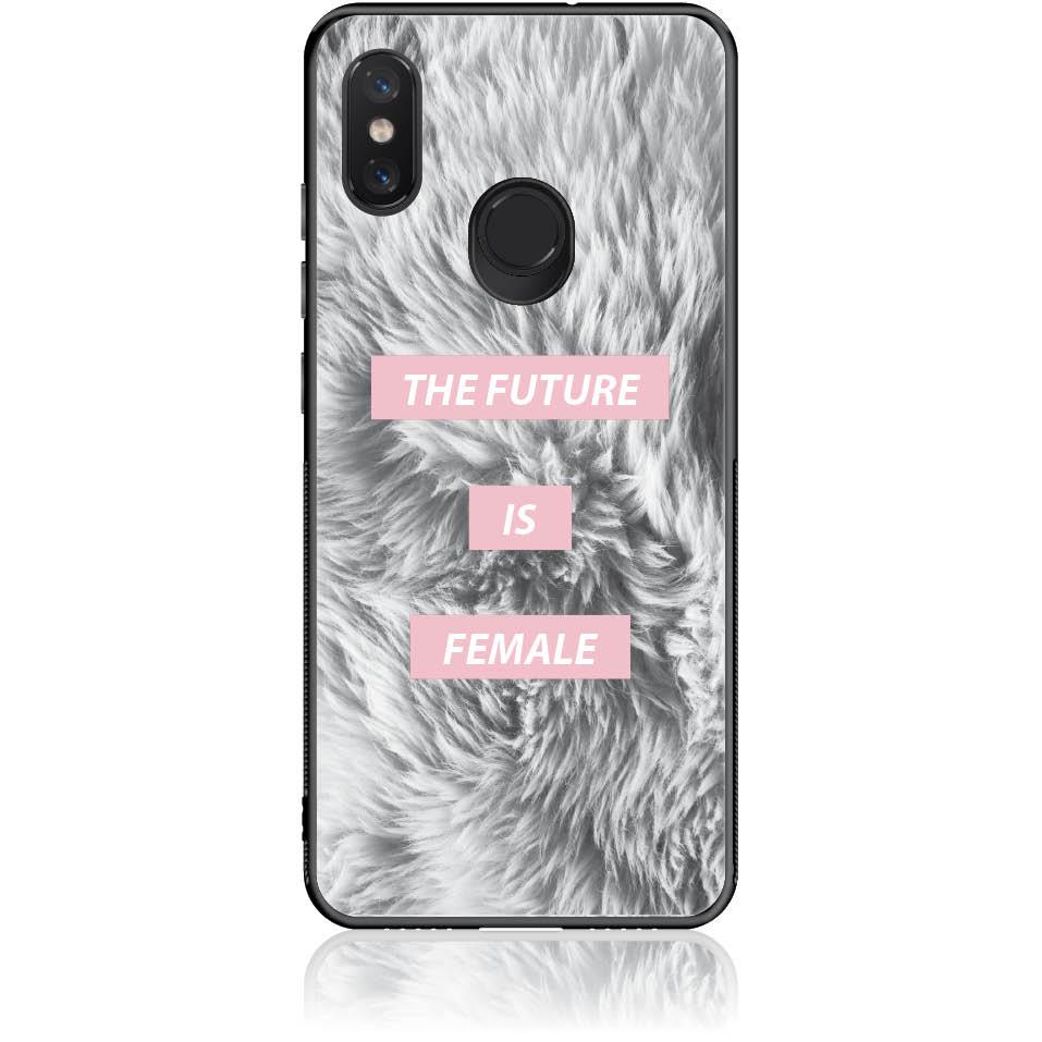 The Future Is Femele Phone Case Design 50443  -  Xiaomi Mi 8  -  Tempered Glass Case