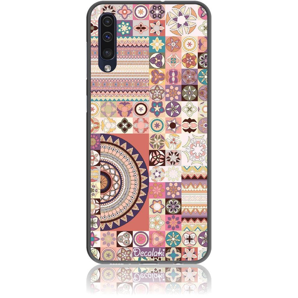 Vintage Pattern Phone Case Design 50093  -  Samsung Galaxy A50  -  Soft Tpu Case