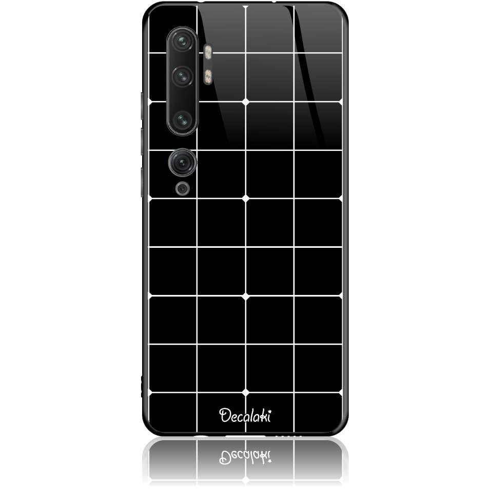 Pattern Black Lines Case Design 50035  -  Xiaomi Mi Note 10 Pro  -  Tempered Glass Case