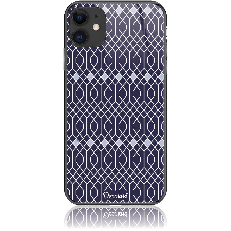 Rhombus Pattern Phone Case Design 50037  -  Iphone 11  -  Tempered Glass Case