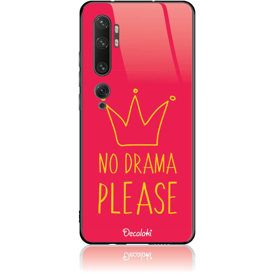 No Drama Please Red Phone Case Design 50092  -  Xiaomi Mi Note 10 Pro  -  Tempered Glass Case